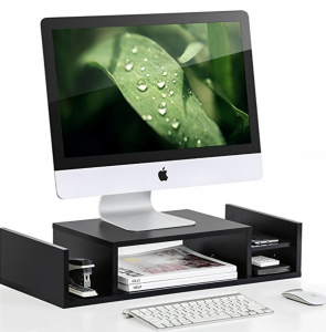 computer monitor stand with storage