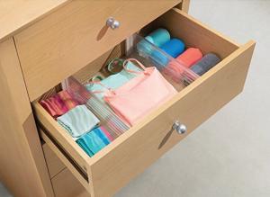clear plastic drawer organizer